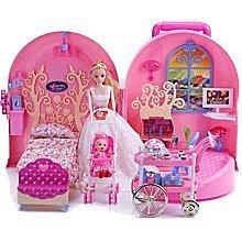 【優上精品】芭比娃娃套裝禮盒甜甜屋芭比拉包芭比夢幻房間臥室組合芭比兒童過家家(Z-P3105)