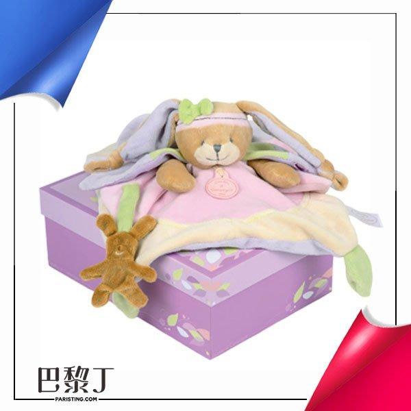 Doudou et Compagnie 粉色韻律小兔摸角安撫巾 (30cm)【巴黎丁】