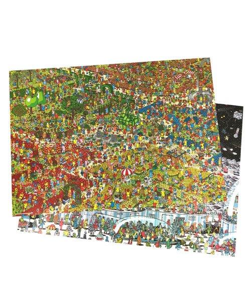 《散步生活雜貨-親子散步》日本製 WHERE'S WALLY? 威利在哪裡 紙製 餐墊組(兩款各4張)-A款67686