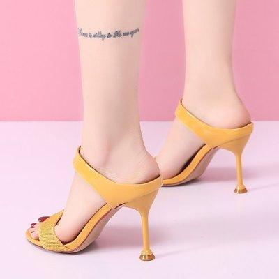 涼鞋高跟鞋 #J-138 性感細跟 亮皮精緻名媛款