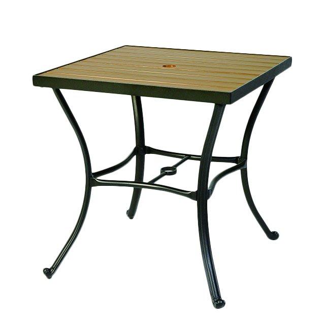【紅豆戶外休閒傢俱】70CM鋁合金塑木方桌/餐廳用桌椅/咖啡廳桌椅/戶外休閒家具/庭院休閒桌椅/戶外休閒傘/戶外休閒桌椅