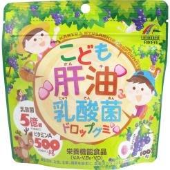 【東京速購】日本製 UNIMAT RIKEN 超強系列 肝油 ˣ 乳酸菌  葡萄口味 100粒