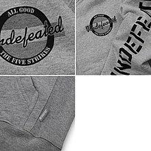 【 超搶手 】全新正品 秋冬 最新 Undefeated Dry Fleece Zip Up 拉鍊帽夾外套 灰色 L