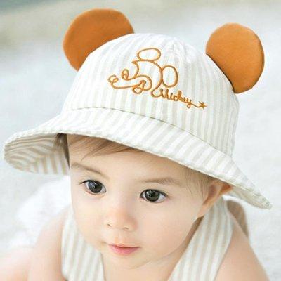 (免運)遮陽帽 嬰兒帽子春夏季0個3月6寶寶遮陽帽防 [BOOM]