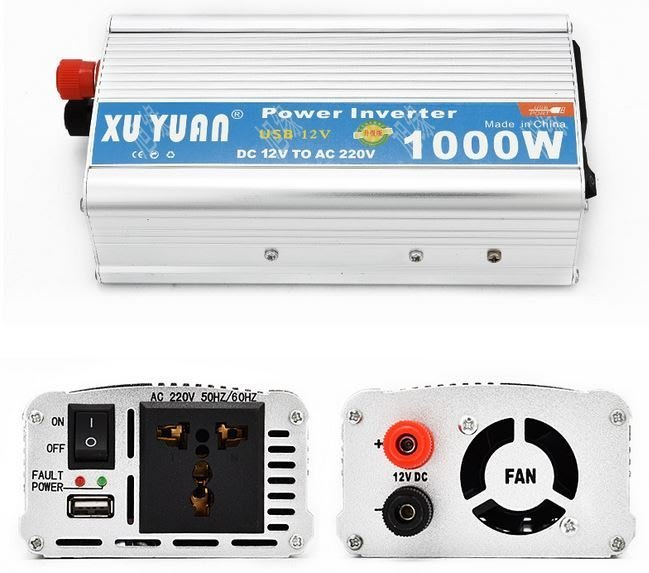 【Sun】XUYUAN 1000W 修正弦波逆變器 電源轉換器 DC12V 24V 轉 AC110V 220V