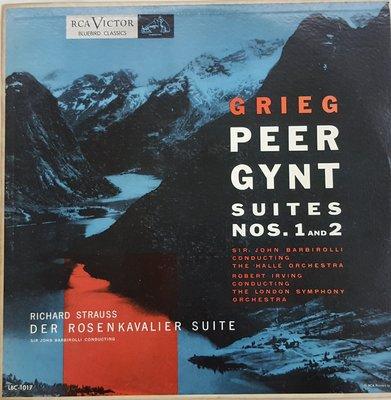 黑膠PEER GYNT Suite 1 & 2 STRAUSS Der Rosenkavalier Barbirolli