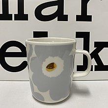 私人收藏絕版花色:芬蘭Marimekko 絕版花色 大象灰燙金罌粟花馬克杯