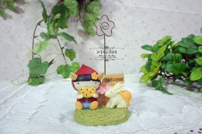 ~*歐室精品傢飾館*~日式zakka鄉村雜貨 可愛 紅帽女孩 兔 welcome 名片夾 辦公小物 婚禮布置~新款上市~