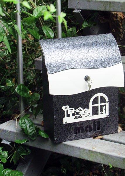 ☆成志金屬☆「黑銀異色款」設計款鋁合金信箱,雅致耐用,專業置物架廠商生產