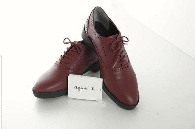 限時95折-agnes b 牛津鞋(24.5號)全新日本帶回