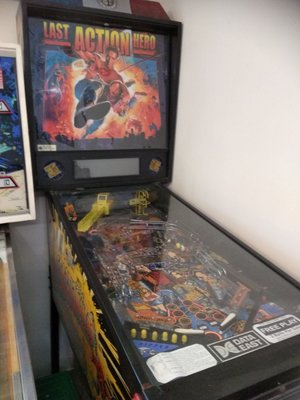Last Action Hero- 1993 Arnold Pinball machine limited version.絕版彈波子機,