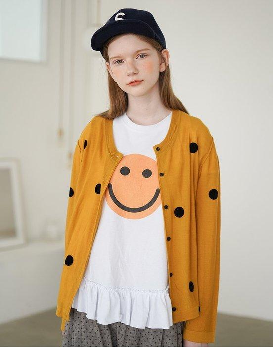 【鈷藍家】甜美個性羊毛小外套女夏季薄款日系原創波點長袖針織開衫192637