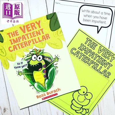 The Very Impatient Caterpillar 非常急躁的毛毛蟲 兒童初級章節書橋梁書插圖故事書自然科普 260L 英文原版 3-6歲【中商原?