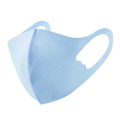兒童3D立體冰絲棉透氣掛耳防塵口罩_明星同款_可水洗_水藍- 其它