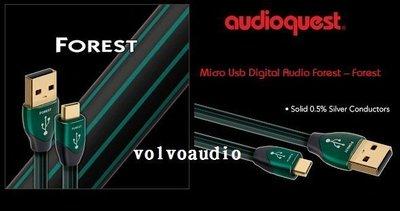 【高雄富豪音響】美國線聖 Audioquest Forest USB A-Micro 數位線 0.75M