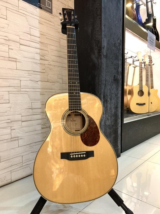 【名人樂器】Sigma OMT-28H+ Guitar 面單 雲杉 民謠吉他