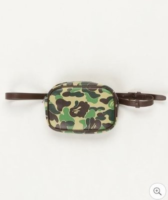 XinmOOn BAPE ABC WAIST BAG 機能 腰包 側背包 迷彩腰包 迷彩 粉 經典 休閒 斜背包 男女