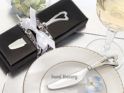《Jami Honey》【JZ0143】婚禮小物 Special Love彎彎情意愛心奶油刀 禮盒
