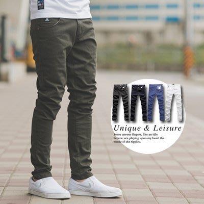 柒零年代【NB0129J】多色彈力素面窄版休閒長褲(JK4205)