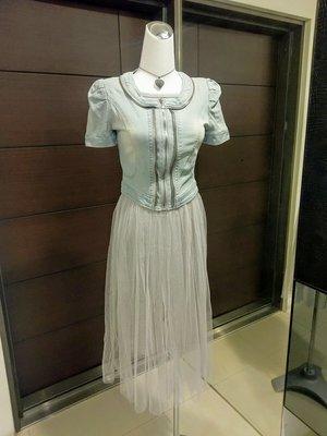 琳達購物中心-實品拍攝-莫代爾灰色背心紗裙洋裝