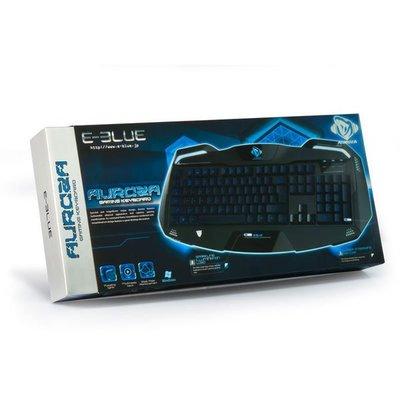 [哈GAME族]免運費 E-Blue 宜博 Auroza 極光狂蛇 電競有線鍵盤 英文版 EKM701BKUS