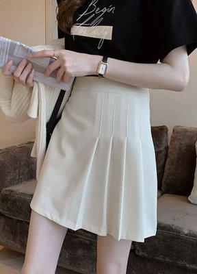 PapaDarling 20SS 時尚氣質高腰顯瘦包臀百褶裙 短裙 黑色 杏色 灰色