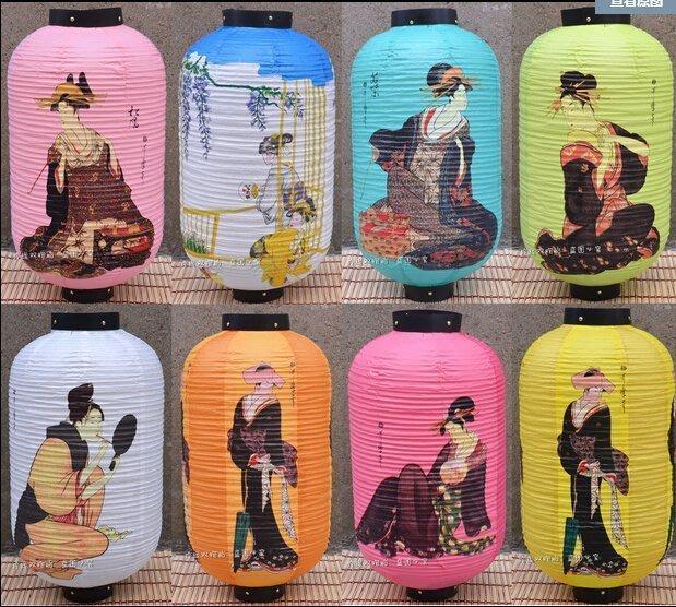 【易發生活館】新品日式餐廳料理酒店裝飾紙燈籠 日本浮世繪美人圖紙燈時尚中秋燈籠
