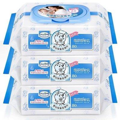 天才老爸←【貝恩 Baan】貝恩 濕紙巾 (80抽X6包)(可箱購) EDI 超純水 嬰兒 保養 柔濕巾 超厚、超含水 台中市