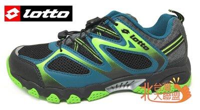 北台灣大聯盟 義大利第一品牌-LOTTO樂得 男款排水透氣山水車三棲鞋 3580 黑綠 超低直購價690元