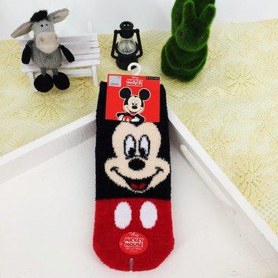 可愛迪士尼米奇襪子冬天保暖羽絨直版襪款生日 聖誕節 女生衣著