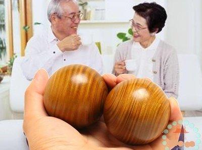 【實木健身球-紅綠檀木-仿古禮盒裝-球直徑約50mm-2個/套-1套/組】頂級南美綠檀香木 紅檀球-56043
