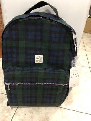 JACK WILLS ~經典款~時尚帆布後背包 ~免運費~
