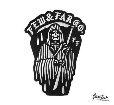 GOODFORIT / 澳洲品牌Few & Far Stay Bold Reaper死神電鏽斜紋貼布18.8 x 25C