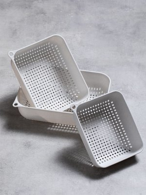 創意瀝水籃廚房家用三件套套裝多功能水果籃洗菜盆碗筷瀝水籃