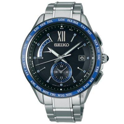 可議價.「1958 鐘錶城」SEIKO精工錶 BRIGHTZ 時尚太陽能鈦金屬電波錶(SAGA237J)-43mm