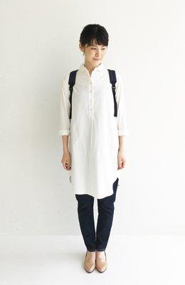 EmTROIS 春 別緻簡約 牛津紡長版襯衫連身裙  (現貨款特價) 白色補貨到~