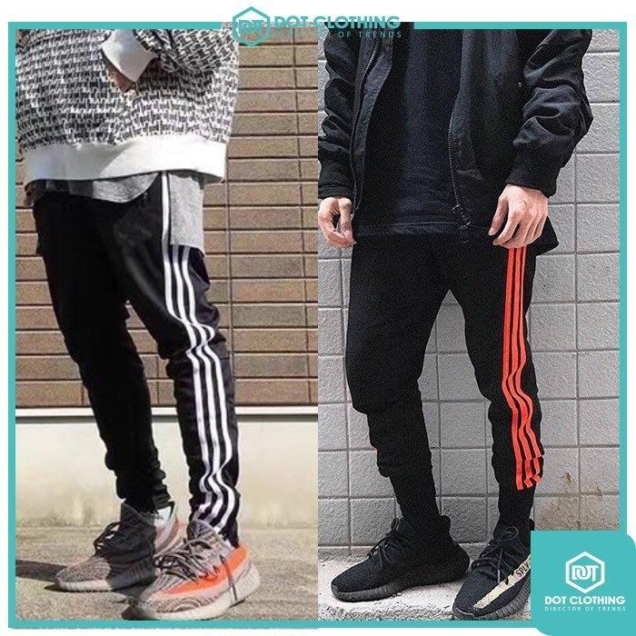DOT聚點 自創品牌 Originals經典款 三線褲 黑白 黑橘 三線 運動褲 350 V2 縮口褲 百搭款 下殺5折