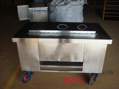 【全冠】二手白鐵烤肉台 烤肉餐車 燒烤架 燒烤台車 燒烤餐車 烤肉台車 (B8425)