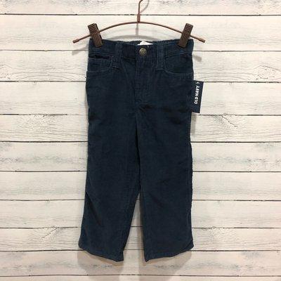 Maple麋鹿小舖 美國購買 童裝品牌 OLD NAVY 男童深藍色條絨長褲 * ( 現貨2T )