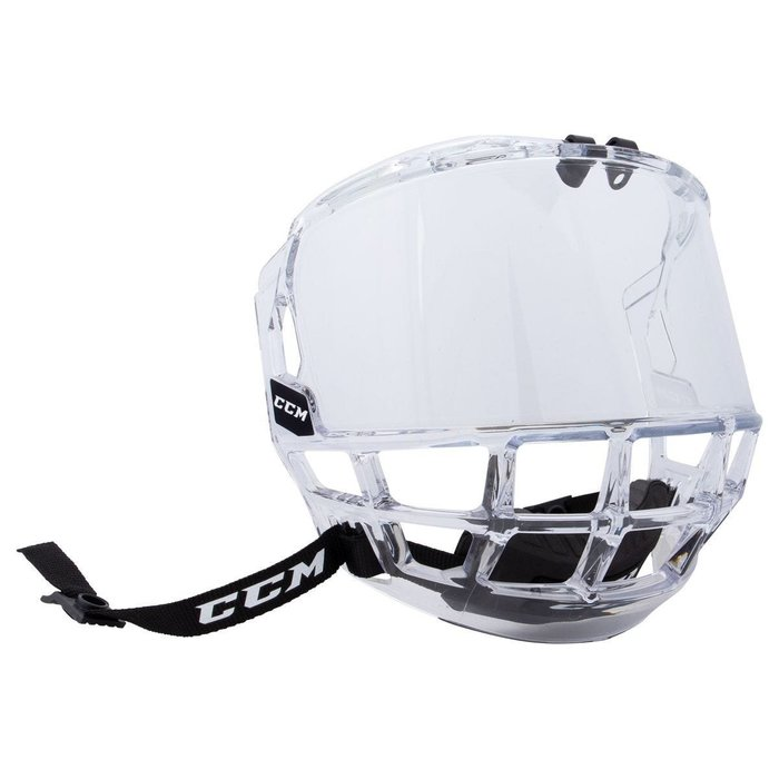CCM FV1 全罩式曲棍球頭盔面罩 JR尺寸適合M號以下頭盔 強化PC塑膠製 表面經防刮防霧處理  限量到貨