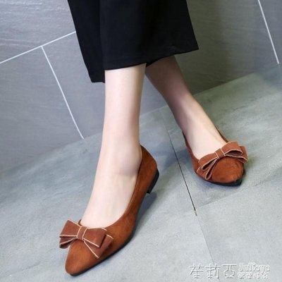 百搭平底尖頭單鞋女鞋老北京布鞋時尚舒適工作媽媽鞋