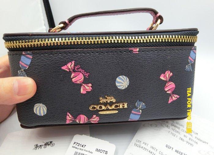 美國代購-現貨HBOX- COACH 可愛手飾收藏盒/小化妝收納盒