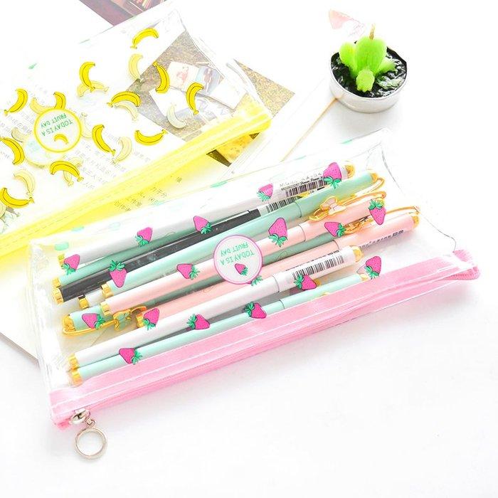 MY#爆款#韓國簡約小清新大學生筆袋卡通少女心透明文具袋可愛大容量鉛筆盒