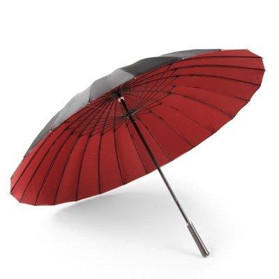 【可開發票】24骨雙層傘長柄雨傘大號雙人雨傘男女直桿傘黑色抗風學生創意【摘星居】