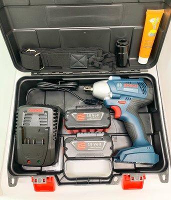 有碳刷電動扳手 原廠博世 BOSCH GDS250-LI 18V雙電池 4.0AH /鋰電衝擊電動扳手手/木工架子工套筒