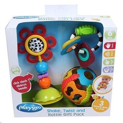 @企鵝寶貝二館@ 澳洲 Playgro 培高 搖搖星球禮盒組 玩具禮盒-內含三種玩具 ( PG0185258)