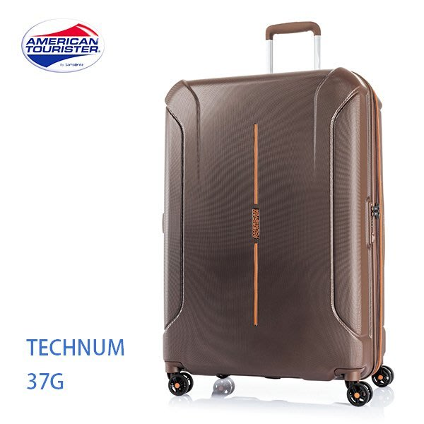 美國旅行者 AT【Technum 37G】雙軌飛機輪 雙層防盜拉鍊 可擴充 28吋行李箱 PC材質 歡迎詢問