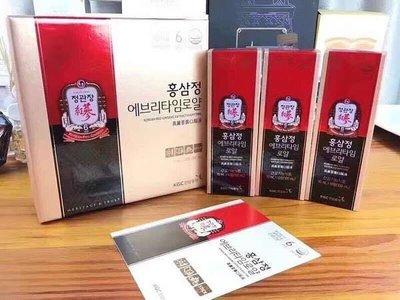 韓國 正官庄 6年根蔘濃縮液一盒30支