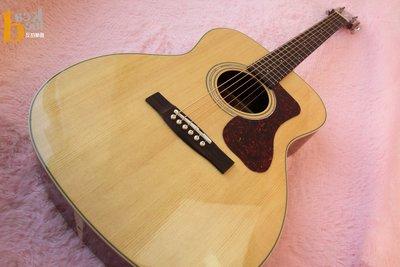 【反拍樂器】免運 GUILD OM-140 木吉他 全單板 附原廠袋 背帶