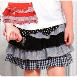 超低價只要470元!粉紅娜娜大女童裝 春夏短裙 立體層次蛋糕式造型 適穿120-165cm,紅、黑2色